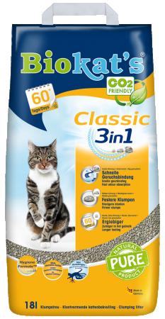 Kattengrit Biokat - geel 18 L
